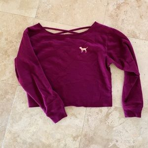 NWOT PINK cropped sweater